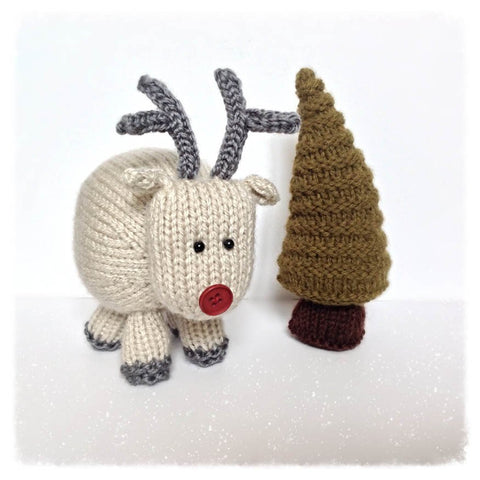 Rene the Reindeer in Aran by Amanda Berry - Digital Version