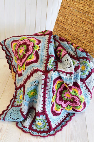 Rose of Avalon Blanket Crochet Kit and Pattern