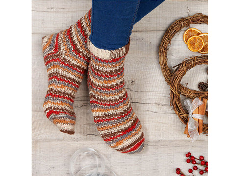 Cupid Socks Knitting Kit and Pattern in West Yorkshire Spinners Yarn
