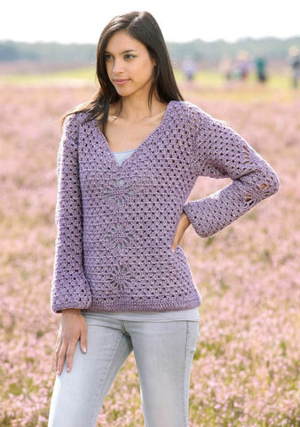 Crochet Pullover in Scheepjes Stone Washed XL - Digital Version
