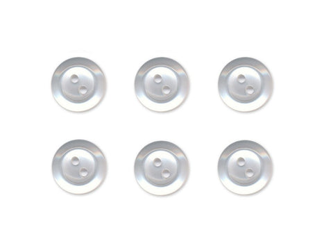 Rimmed  Round Buttons - Clear - 023