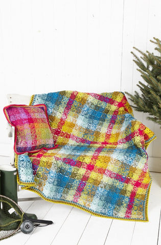 Crochet Blanket and Cushion Cover in Stylecraft Special DK (9255)