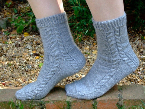 Soft Cable Socks by Sue Stratford in West Yorkshire Spinners Signature 4 Ply Spice Rack