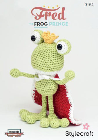 Fred the Frog Prince in Stylecraft Classique Cotton DK (9164)