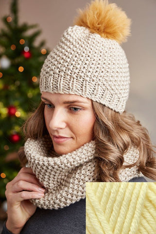 Deramores Studio Chunky Beanie and Snood Pack – Pearl