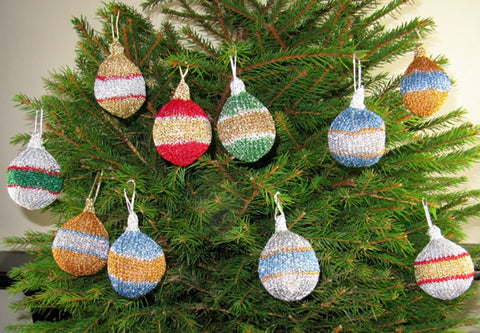 Christmas Tree Baubles and Decorations by MadMonkeyKnits (740) - Digital Version