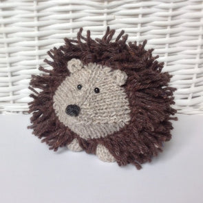 Tweedy Hedgehog in Aran by Amanda Berry - Digital Version