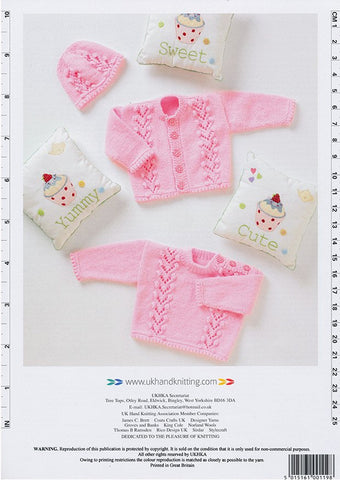 Cardigan, Sweater and Hat in DK (UKHKA119)