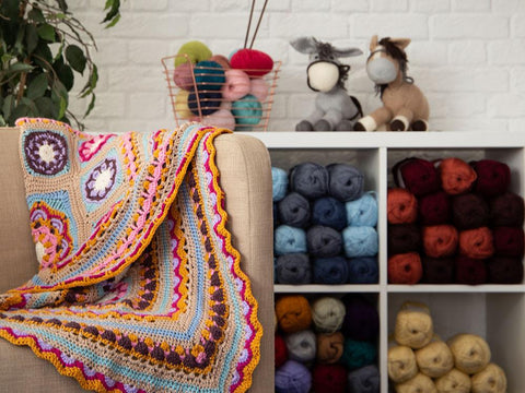 Beaulieu Blanket Crochet Kit and Pattern in Stylecraft Yarn