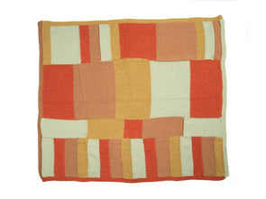 Patchwork Throw and Cushion by Wendy Kippax in Deramores Studio DK
