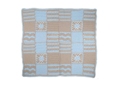 Stitch Sampler Crochet Blanket in Deramores Studio Baby DK