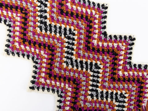 Ripple Scarf Crochet Kit and Pattern in West Yorkshire Spinners Yarn