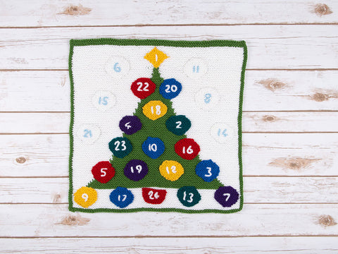 Christmas Tree Advent Calendar by Ruth Dorrington in Deramores Studio DK
