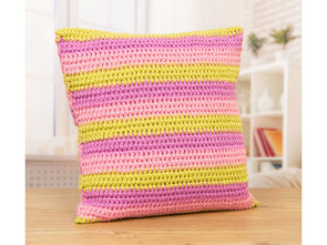 Striped Crocheted Cushions Crochet Kit and Pattern
