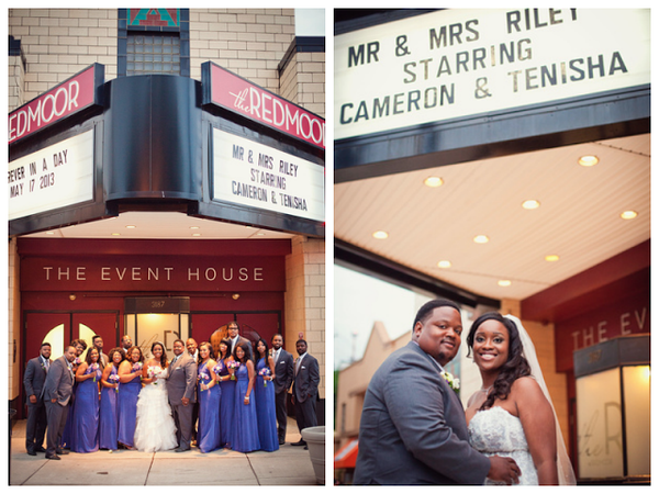 movie theme wedding theatre marquee