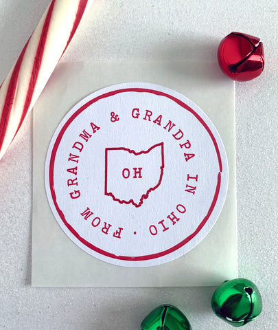 State Pride Christmas Gift Sticker - Invited Too