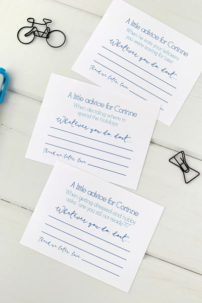 Advice Cards for Bride - Invited Too