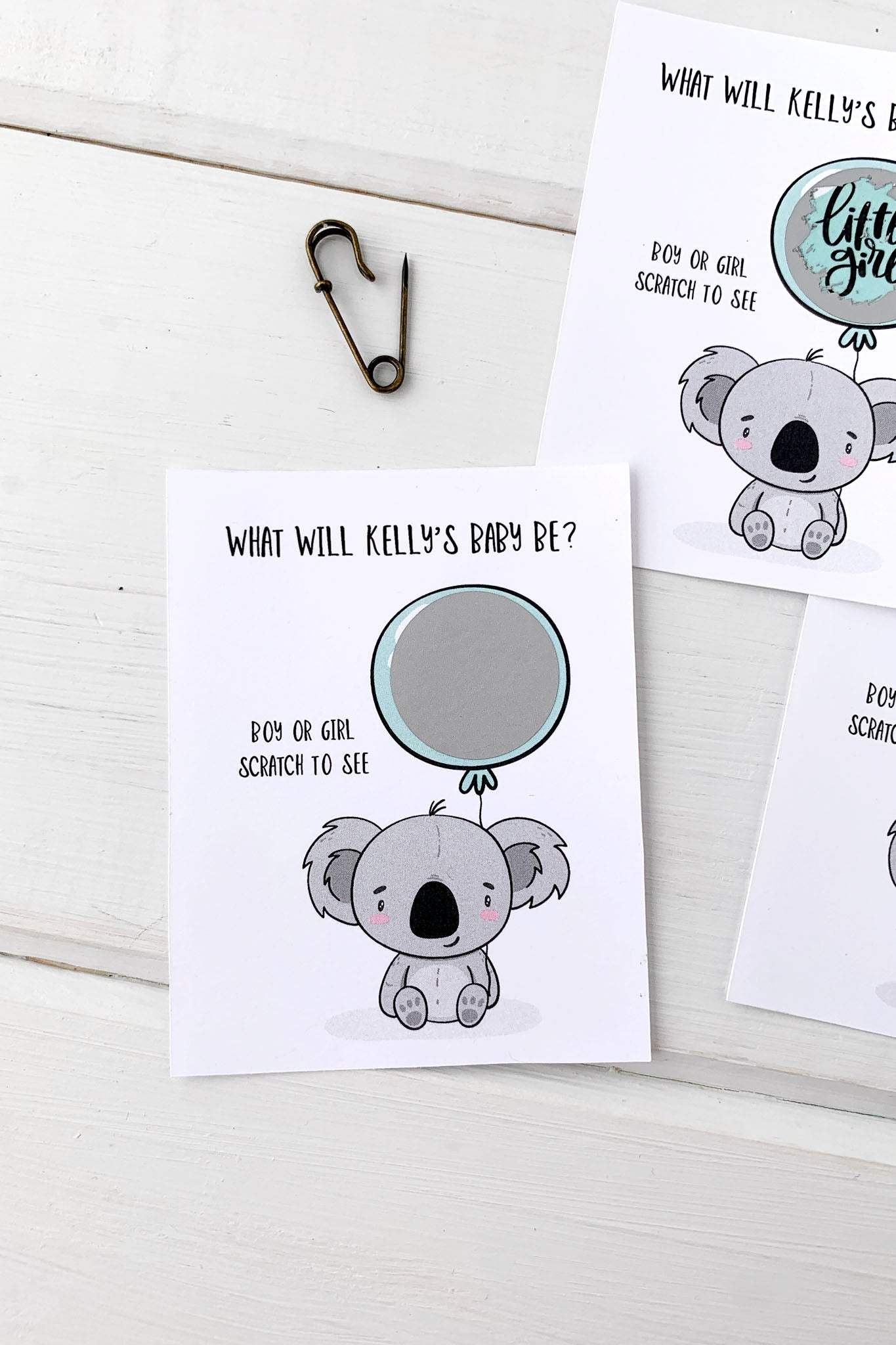 Baby Koala Gender Reveal Baby Shower Scratch Offs - Invited Too