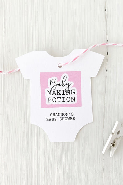 Baby Making Potion Baby Shower Favor Tags - Invited Too