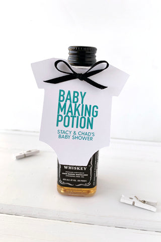 Baby Making Potion Baby Shower Tags - Invited Too