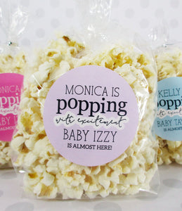 baby shower popcorn favor labels