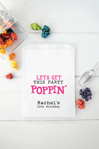 Birthday Popcorn Favor Bags - Invited Too