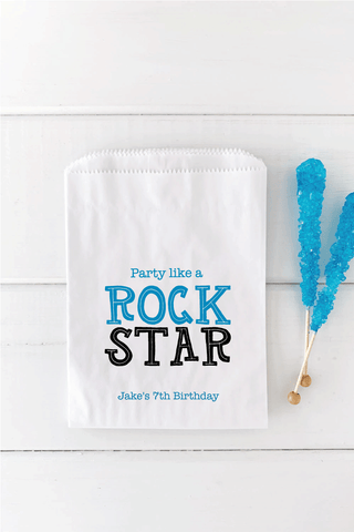 Party Like A Rock Star Birthday Favor Bag - Invited Too