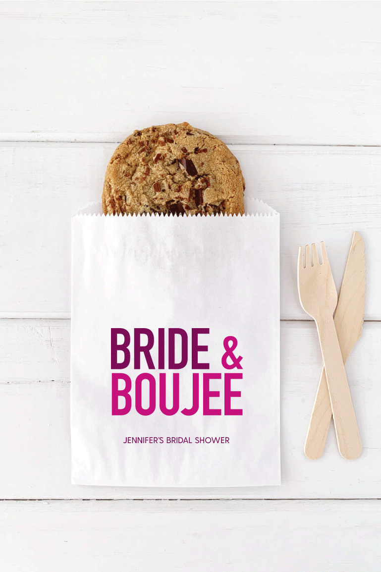 Bride and Boujee Bridal Shower Favor Bags - Invited Too
