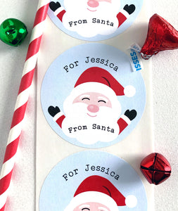 Kids From Santa Christmas Gift Sticker - Invited Too