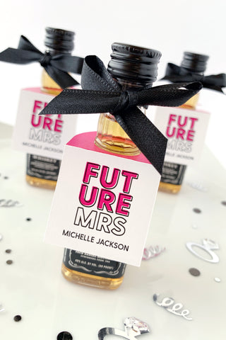 Future Mrs Mini Bottle Tags - Invited Too
