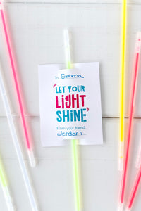 Glow Stick Valentine Cards - Invited Too