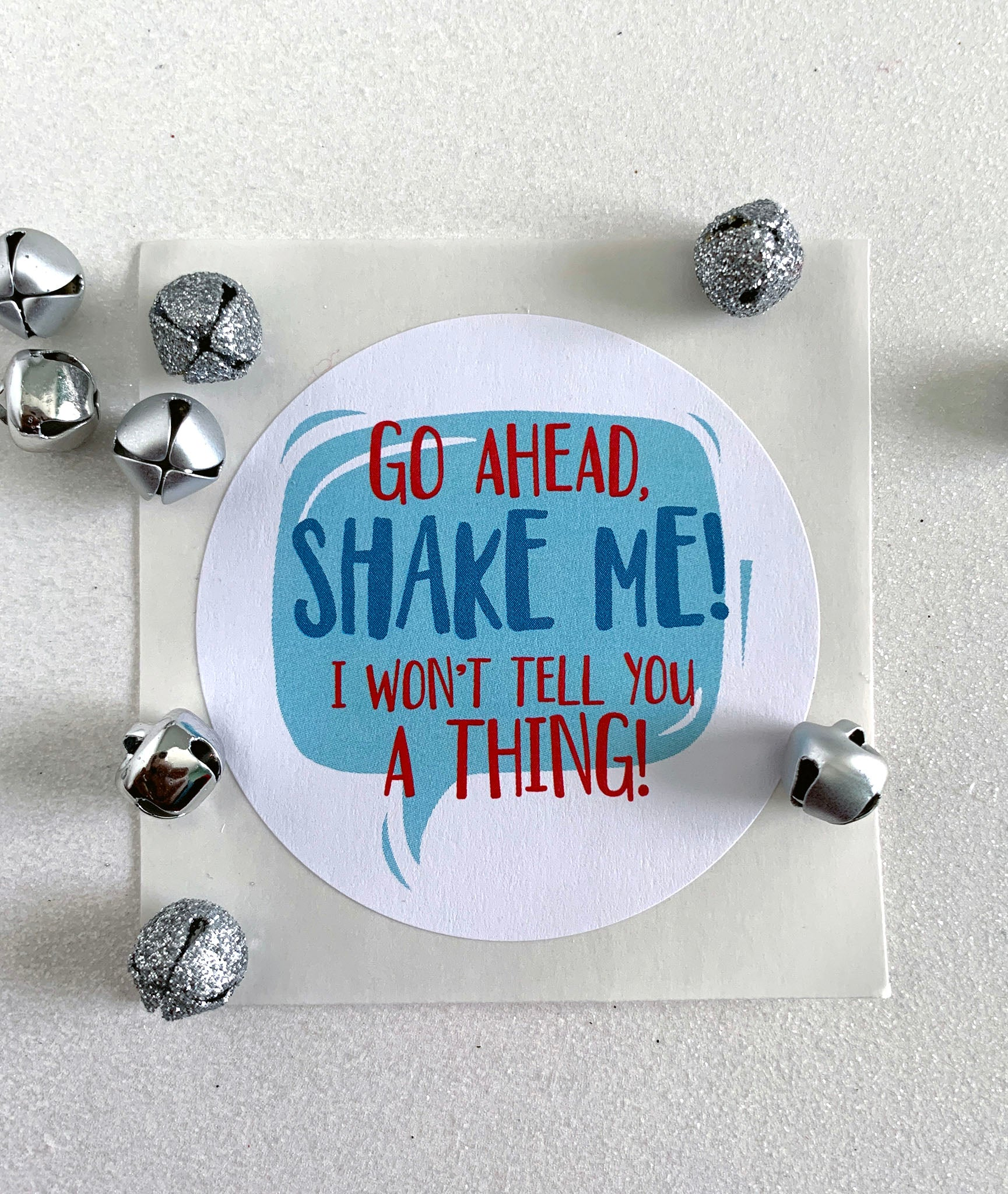 Funny Go Ahead Shake Me Christmas Gift Sticker - Invited Too