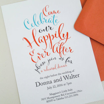 Happily Ever After Rehearsal Dinner Invitation - Invited Too