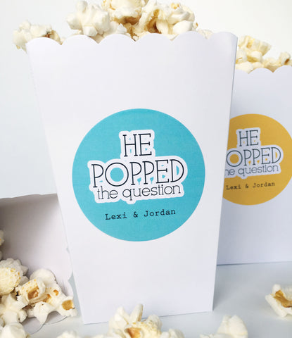 He Popped the Question Popcorn Labels - Invited Too
