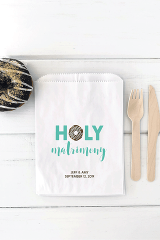 Holy Matrimony Donut Bags - Invited Too