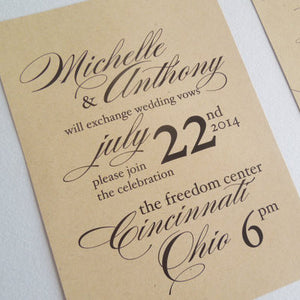 Kraft Wedding Invitation Set - Invited Too