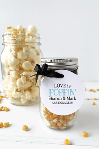 Our Love is Poppin Engagement Party Favor Tags - Invited Too