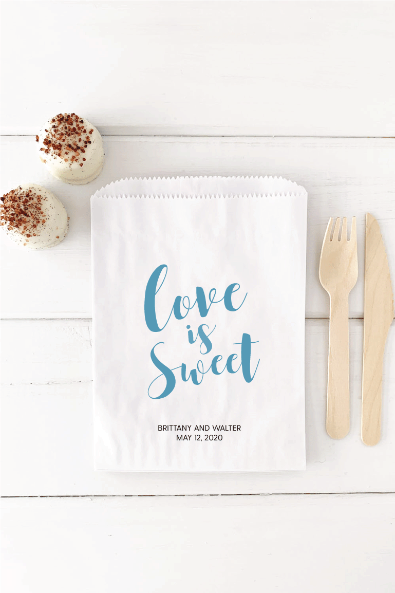 Love is Sweet Favor Bags - Invited Too