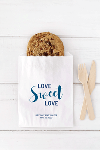 Love Sweet Love Wedding Favor Bags - Invited Too