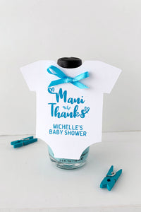 Mani Thanks Baby Shower Favor Tags - Invited Too