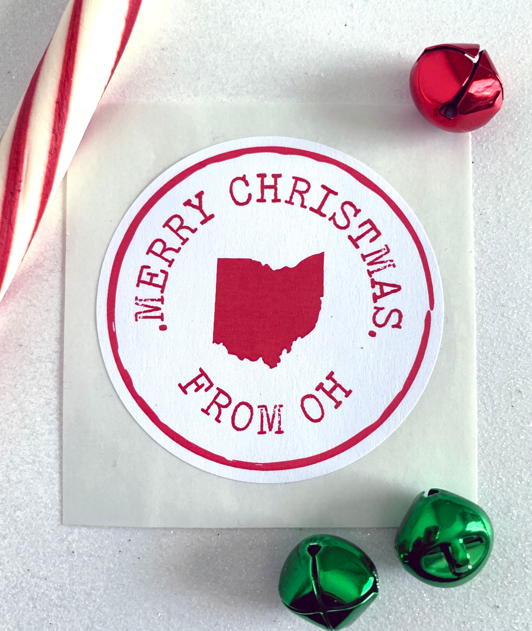 Merry Christmas State Pride Holiday Gift Sticker - Invited Too