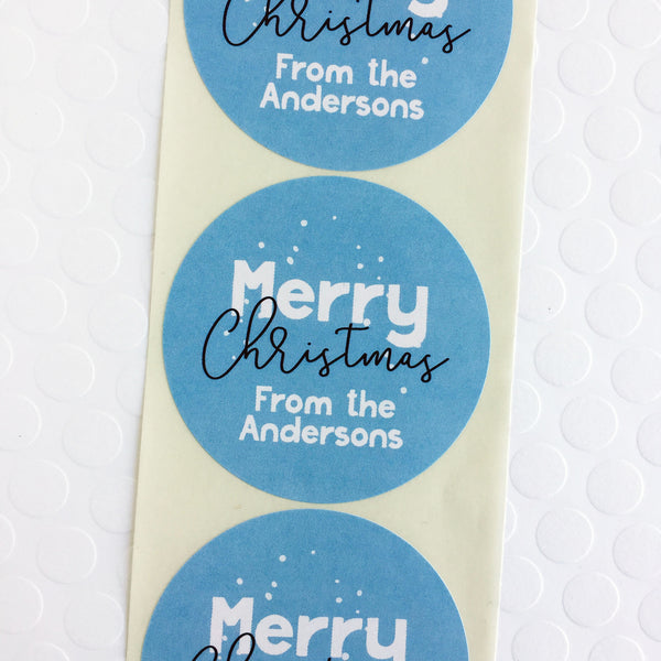 Personalized Merry Christmas Stickers - Invited Too