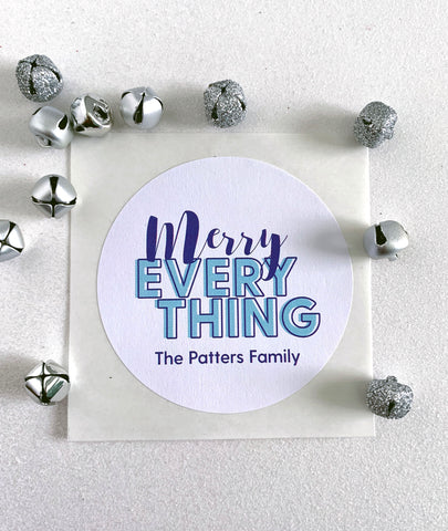 Merry Everything Holiday Gift Label - Invited Too