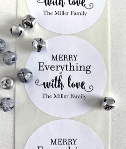Merry Everything Christmas Gift Label - Invited Too