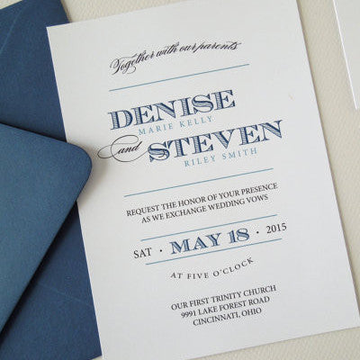 Navy and Teal Wedding Invites - Invited Too