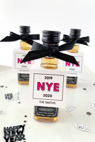 New Years Eve Party Favor Tags - Invited Too