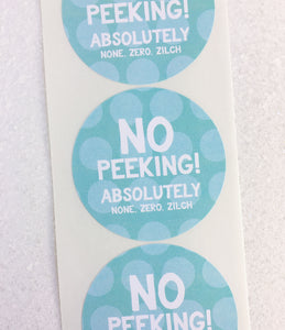 No Peeking Holiday Gift Stickers