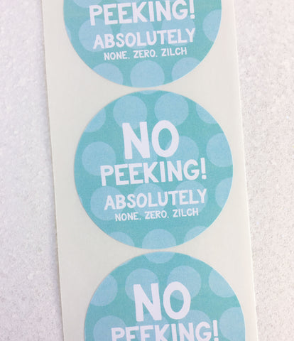 No Peeking Holiday Gift Stickers - Invited Too