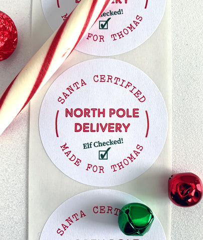 North Pole Delivery Santa Christmas Sticker - Invited Too