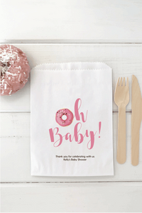 Oh Baby Donut Favor Bags - Invited Too